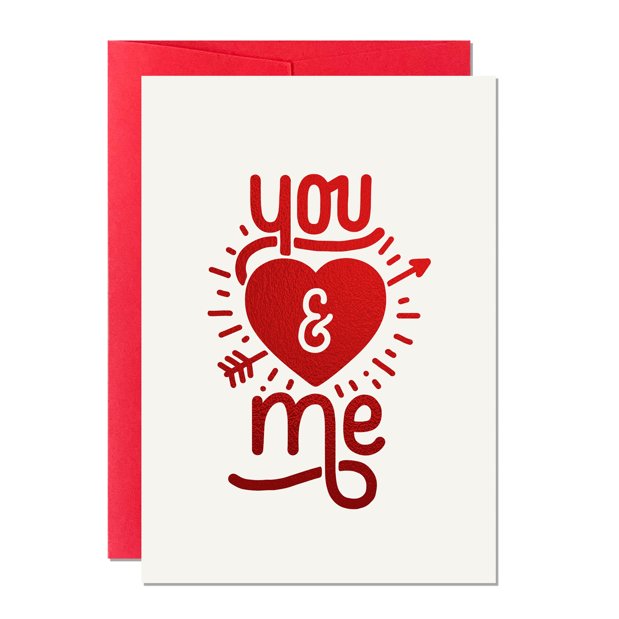You and Me Valentine's Card (Pack of 6)