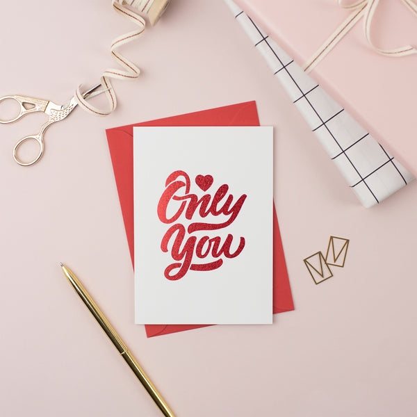 Only You Valentine's Day Card (Pack of 6)
