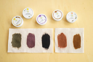 Printing with Natural Dyes Kit - DARK COLORS on COTTON