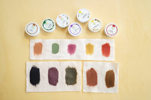 Printing with Natural Dyes Kit - ALL COLORS on COTTON