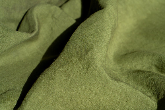 Natural Dyed Linen OLIVE