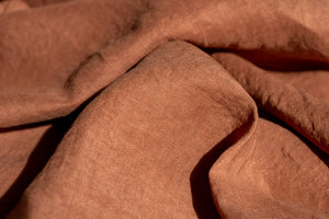 Natural Dyed Linen CHOCOLATE