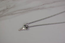 Load image into Gallery viewer, Silver Dior Key Necklace
