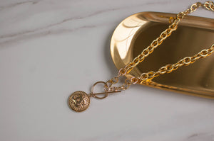 Chanel Toggle Button Necklace
