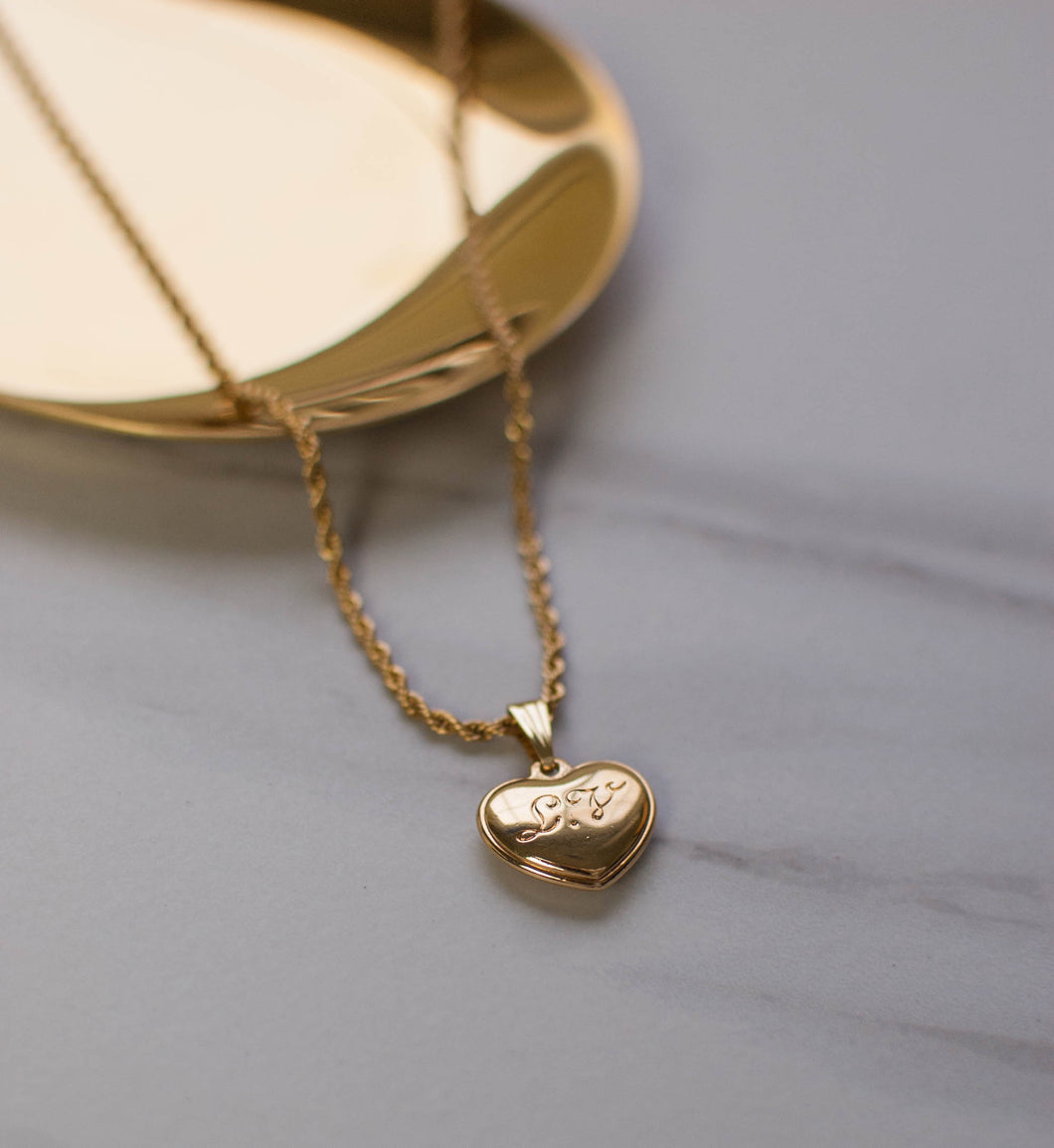Louis Vuitton Gold Heart Necklace