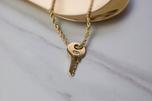 Load image into Gallery viewer, Gold Dior Key Necklace
