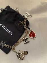 Load image into Gallery viewer, Chanel Coco Rider Black CC Necklace
