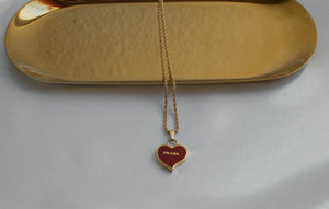 Prada Heart Necklace