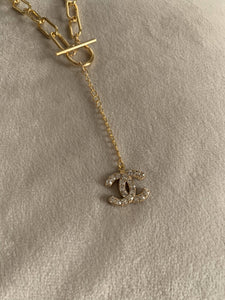 Chanel Lariat Button Necklace