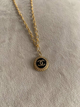 Load image into Gallery viewer, Chanel Dainty Black Button Necklace
