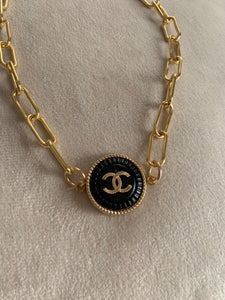 Chanel Button Choker Necklace