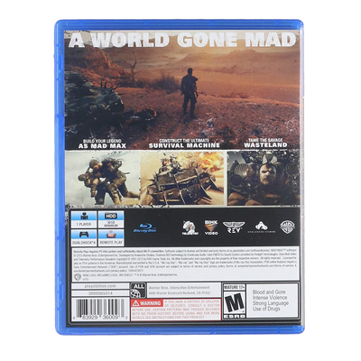 Mad Max PS4 Marca Sony