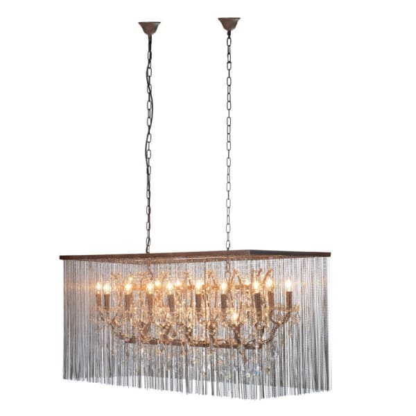 Bead and Glass Chandelier