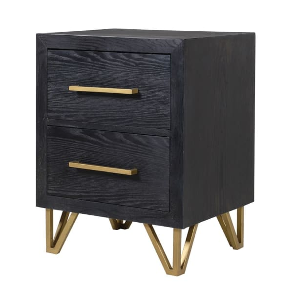 Gold and Black Bed Side Drawers