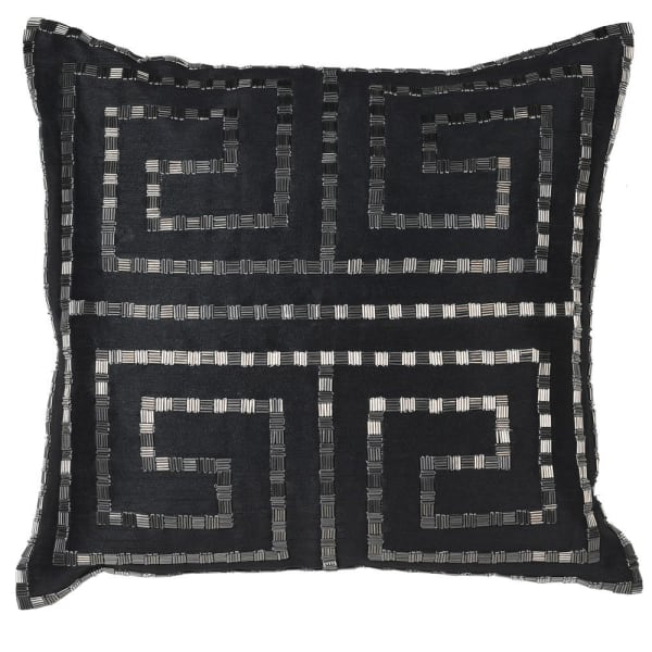 Blacked Beaded Cushion Cover