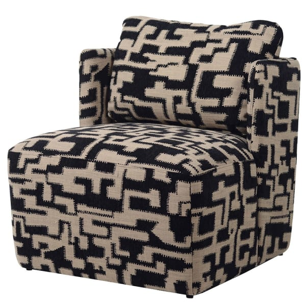 Black and Beige Brikka Occasional Chair