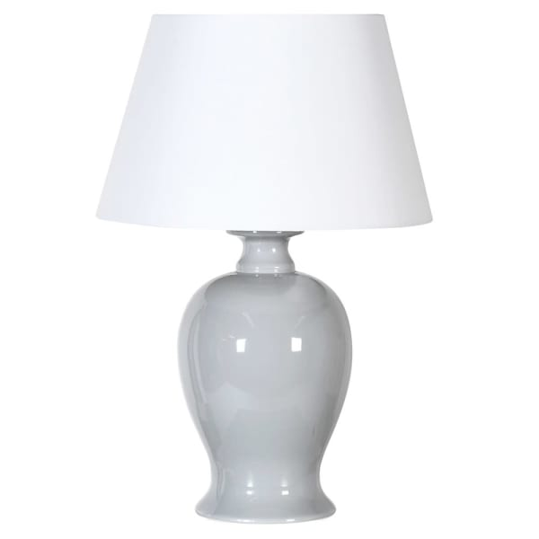 Glazed Grey Ceramic Lamp