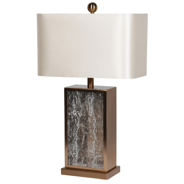 Brass and Cream Glass Table Lamp