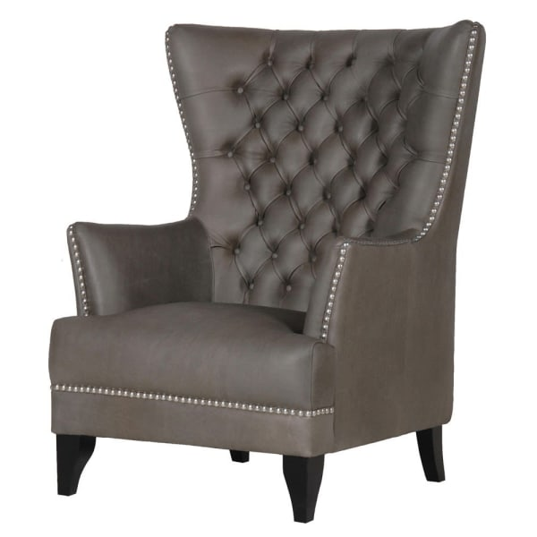 Chester Leather High Back Buttoned Chair
