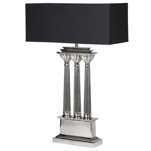 Nickle Pillar Table Lamp