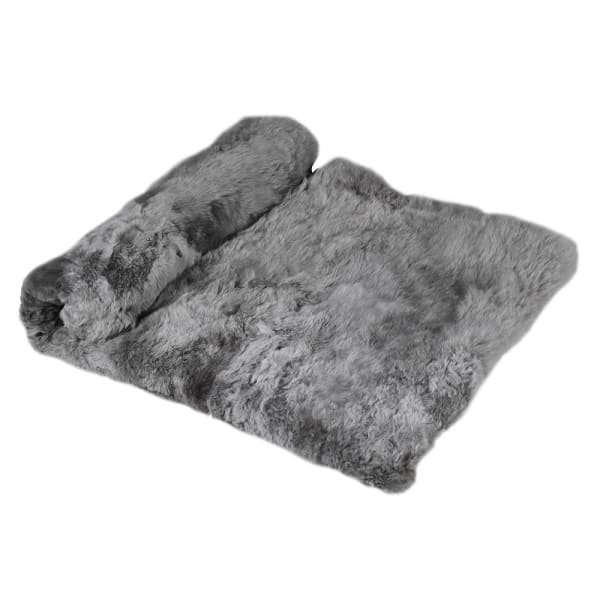 Cool Grey Alpaca Throw