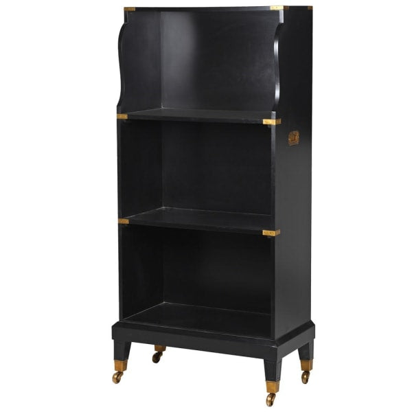 Edward Black and Gold Bookcase