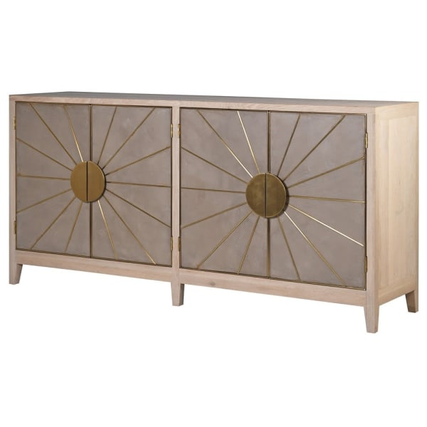 Cocoa Sunburst 4 Door Media Sideboard