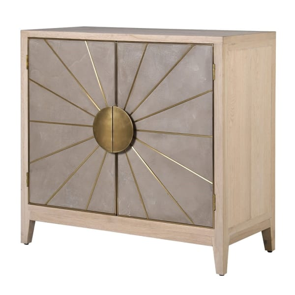 Cocoa 2 Door Sunburst Cupboard