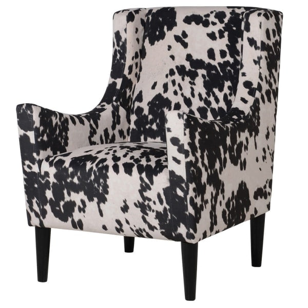 Faux Cow Hide Occasional Chair