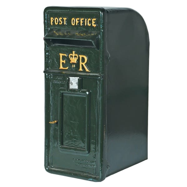 Green Cast Iron Post Box