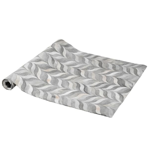 Grey Pattern Hide Rug