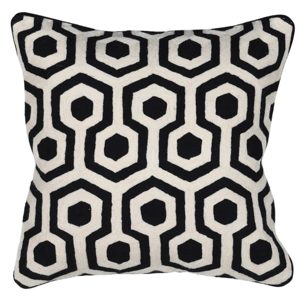 Black and Cream Cushion Cover