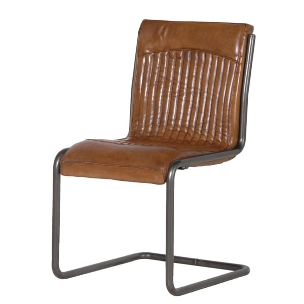 Italian Leather Steel Frame Office Chair