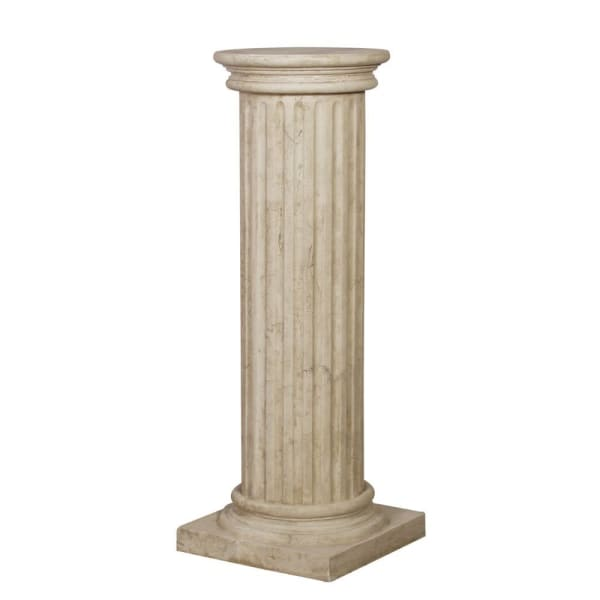 Large Capped Fluted Column