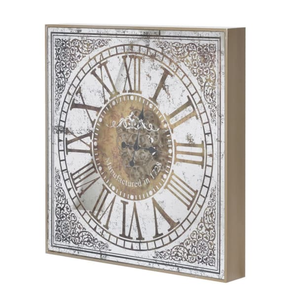 Ornate Wall Clock with Gears