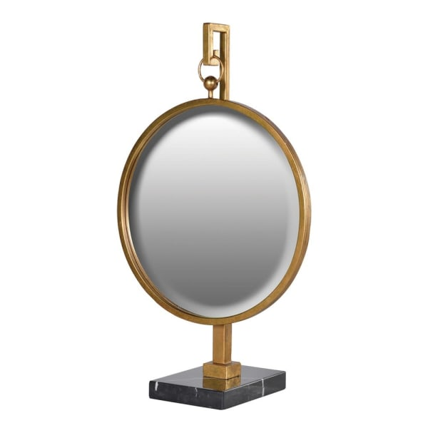 Large Round Mirror On Stand