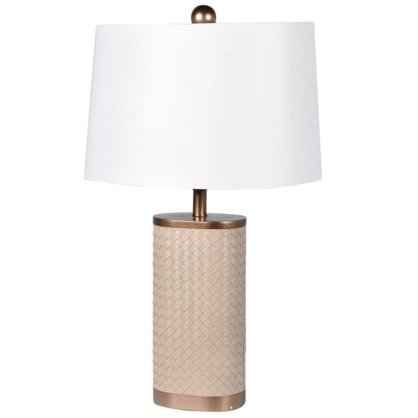 Leather Woven Beige Table Lamp