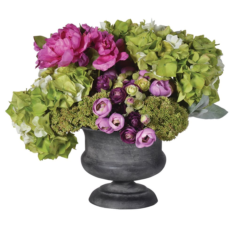Lime and Cerise Mixed Floral Arrangement