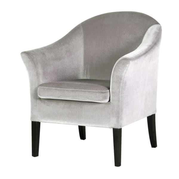 Nelly Silver Velvet Occasional Chair