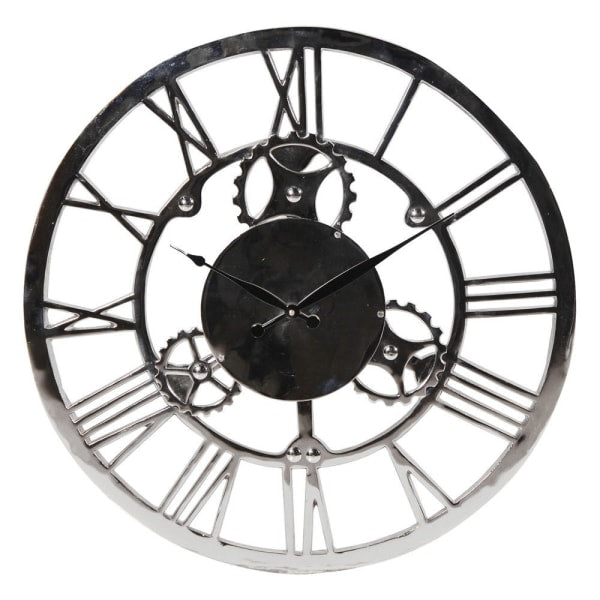 Nickel Finish Wall Clock