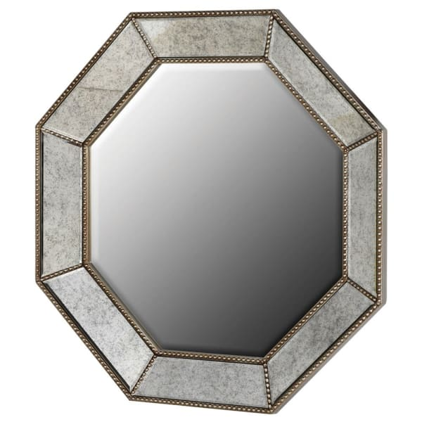 Octagon Champagne Wall Mirror