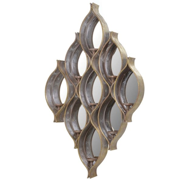 Ornate Wall Mirror with Candleholders