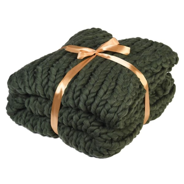 Green Platted Blanket