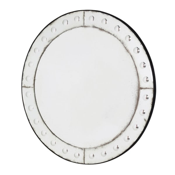 Round Bubble Border Mirror
