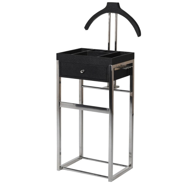 Black Sharkskin Clothes Stand with Hanger