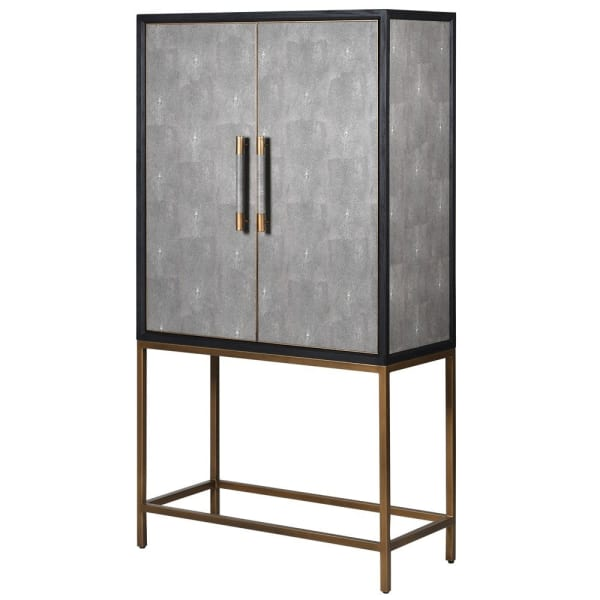 Grey Shagreen Drinks Cabinet