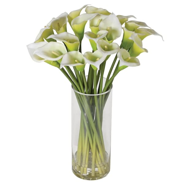 Small Calla Lily in Glass Vase