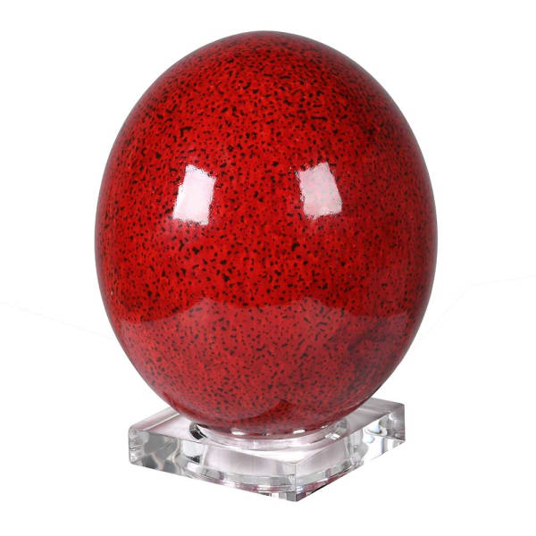 Speckled Red Ostrich Egg