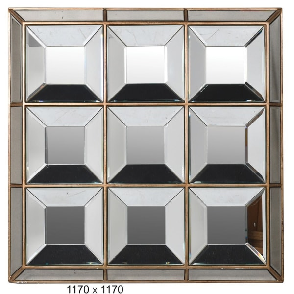 Squares Multi-panel Wall Mirror