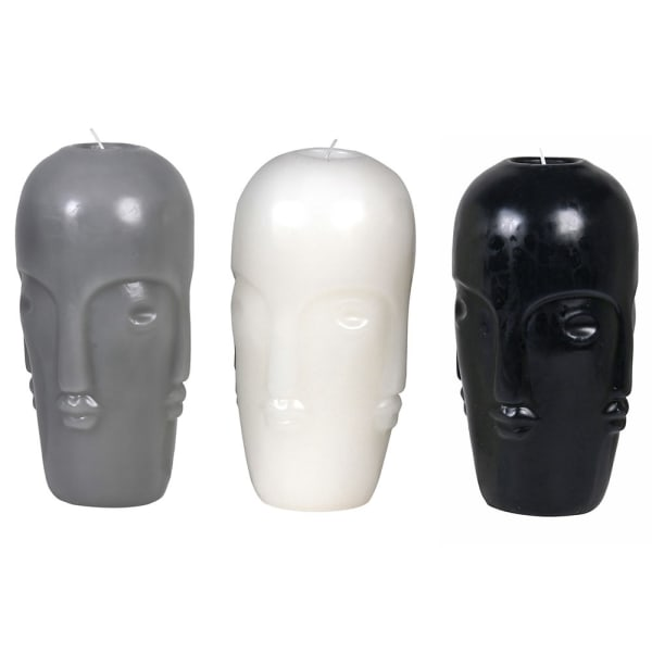 Three Large Heads Candles